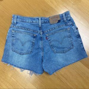 Levi's 550 vtg denim cutoff shorts high rise 10